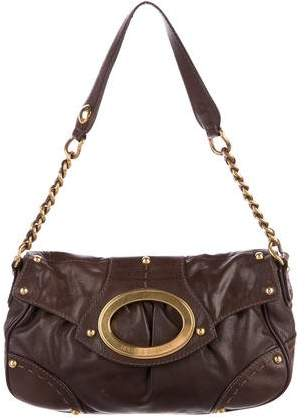 Dolce & Gabbana Pleated Leather Shoulder Bag