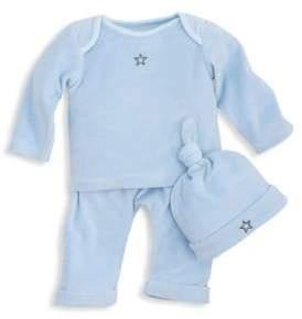 Elegant Baby Baby's Three-Piece Cotton Top, Pants and Hat Set