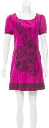 Chloé Embroidered Silk Dress