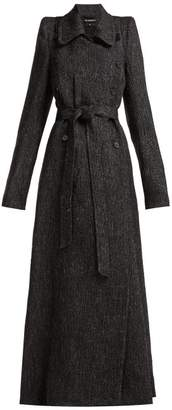 Ann Demeulemeester Northrop Double Breasted Tweed Coat - Womens - Black