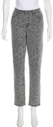 Isaac Mizrahi Mid-Rise Animal Print Jeans