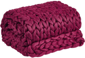 Pomegranate Chunky Knit Throw