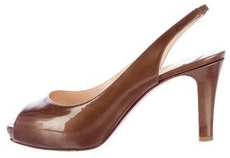 Christian Louboutin  Christian Louboutin Patent Leather Slingback Pumps