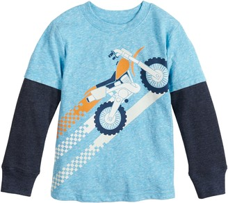 Toddler Boy Jumping Beans Dirt Bike Layered Tee