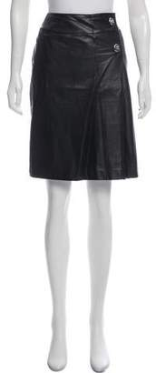 Courreges Knee-Length Leather Skirt