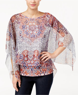 Style & Co. Printed Poncho Top, Only at Macy's $54.50 thestylecure.com