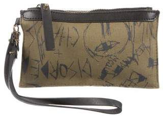 Alexander McQueen Leather-Trimmed Canvas Wristlet
