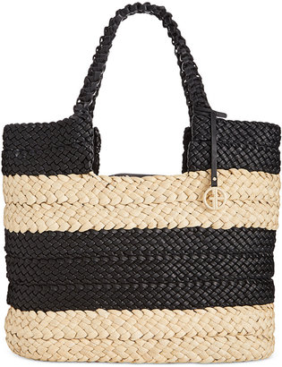 Giani Bernini Striped Straw Tote, Only at Macy's $139.50 thestylecure.com
