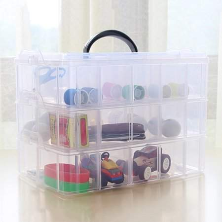 Tryandtry Practical Plastic Storage Box Container Case 30 Organizer Small Items Storage