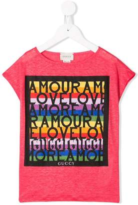 Gucci Kids graphic logo print T-shirt