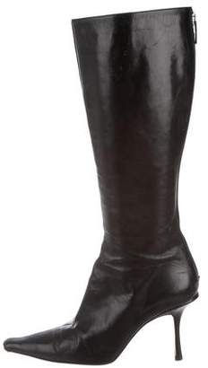 Jimmy Choo Pointed-Toe Leather Boots