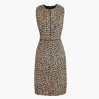 J.Crew Sheath dress in leopard print