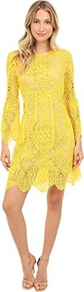 Trina Turk Women's Lyn Gypsetter Lace Bell Sleeve Dress $116.41 thestylecure.com