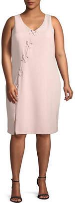 Bold Elements Lace up Bodycon Dress - Plus