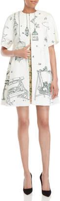 Dolce & Gabbana Birdcage Print Jacquard Short Sleeve Coat