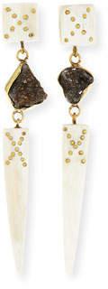 Ashley Pittman Sepetu Light Horn Drop Earrings
