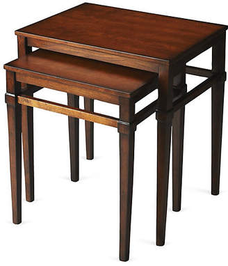 One Kings Lane Alicia Wood Nesting Tables - Set of 2