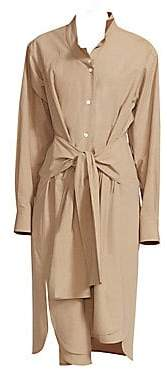 Loewe Women's Asymmetric Cotton Shirtdress