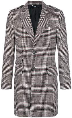 Dolce & Gabbana houndstooth single breasted coat