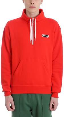 Ami Alexandre Mattiussi Red Cotton Sweatshirt