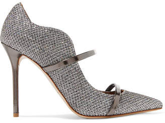 Malone Souliers Maureen Glittered Leather Mules - Silver