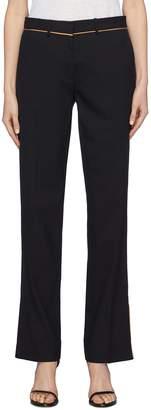Dion Lee Petersham border split cuff wool suiting pants