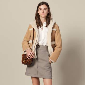Sandro Short A-Line Skirt In Houndstooth
