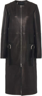 Jeffrey Dodd Leather Embellished Car Coat