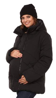 Happy Mama Boutique Happy Mama. Womens Maternity Padded Jacket Hood Carrier Removable Insert. 075p (