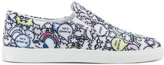 Mira Mikati monster print slip-on sneakers
