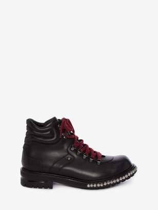 Alexander McQueen Studded Hiking Boot