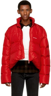 Balenciaga Red Quilted Down Ripstop Jacket $1,995 thestylecure.com