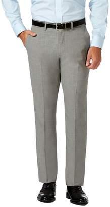 "Haggar Gabardine 4-Way Stretch Slim Fit Flat Front Dress Pants - 29-34\"" Inseam"