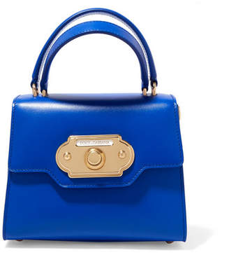 Dolce & Gabbana Welcome Small Leather Tote - Blue