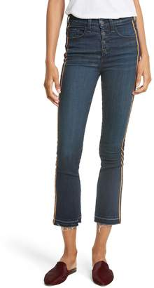 Veronica Beard Carolyn Tuxedo Stripe Baby Boot Crop Jeans