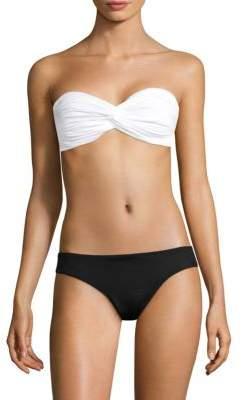 Norma Kamali Johnny Twisted Bandeau Bikini Top
