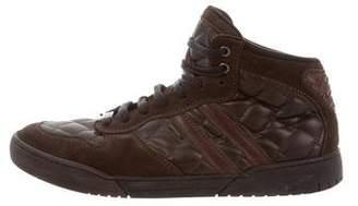 Bottega Veneta Suede Leather-Trimmed Sneakers