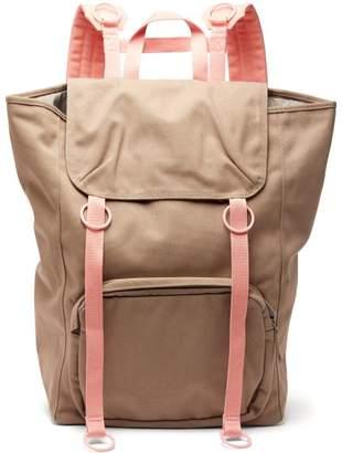 Raf Simons X Eastpak - Two Tone Canvas Backpack - Womens - Pink Multi