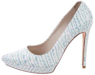 Alice + Olivia Pointed-Toe Platform Pumps