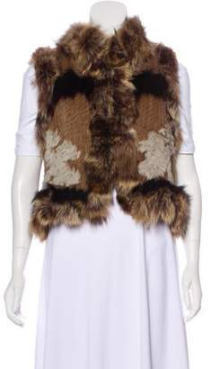 Elizabeth and James Fox-Trimmed Fur Vest
