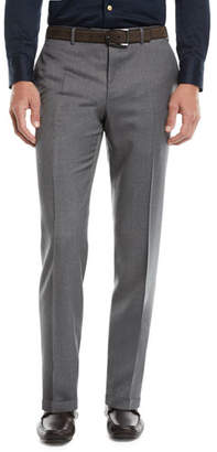 Canali Men's Flat-Front Wool Pants