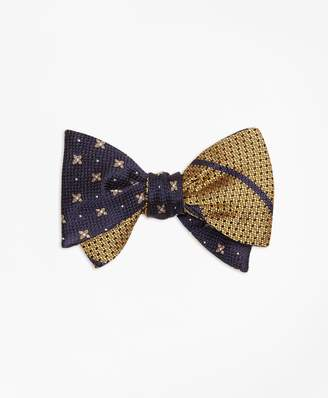 Brooks Brothers X and Dot with Textured BB#3 Stripe Reversible Bow Tie