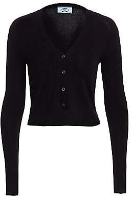 Prada Women's Long-Sleeve Crop Silk & Cashmere Cardigan