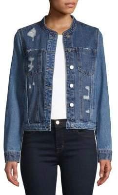 Vero Moda Distressed Denim Jacket