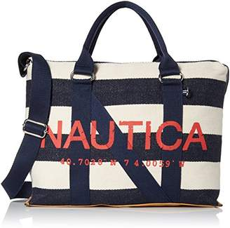 Nautica Brigadier Striped Large Canvas Tote