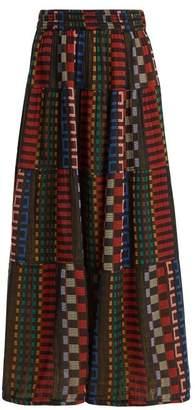 Ace&Jig Panelled Cotton Blend Skirt - Womens - Black Multi