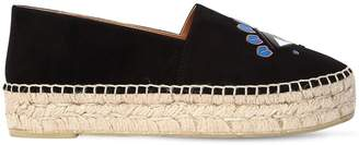 Kenzo 30mm Eye Patch Suede Espadrilles