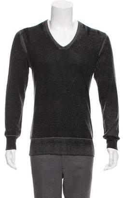 John Varvatos Silk-Cashmere V-Neck Sweater
