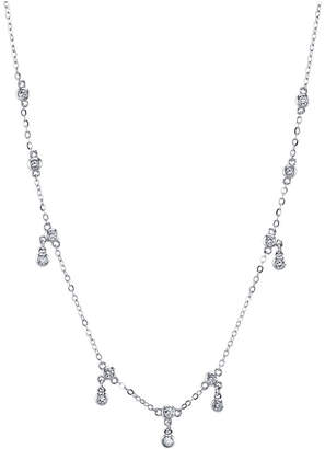 """Unwritten Cubic Zirconia Station Pendant Necklace in Sterling Silver, Rose Gold or Yellow Gold, 16"""" + 2"""" Extender"""