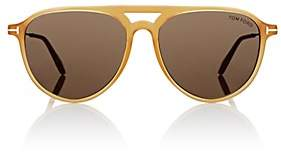 Tom Ford Men's Carlo Sunglasses-Medium Yellow